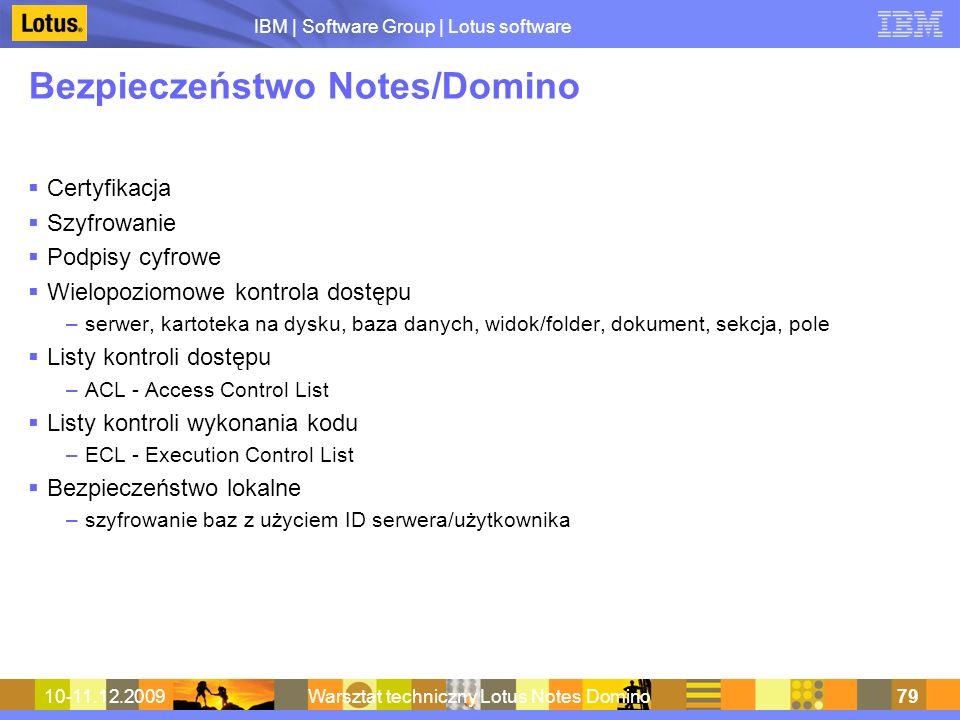 Bezpieczeństwo Notes/Domino