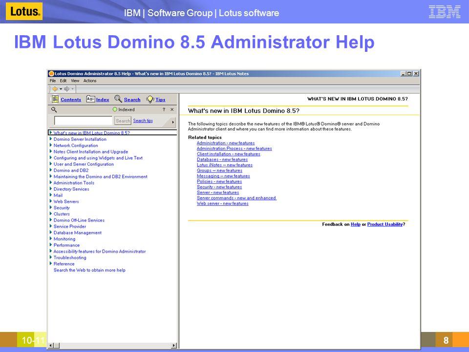 IBM Lotus Domino 8.5 Administrator Help