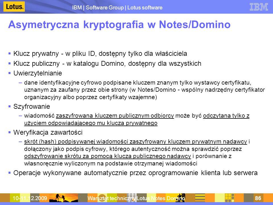 Asymetryczna kryptografia w Notes/Domino