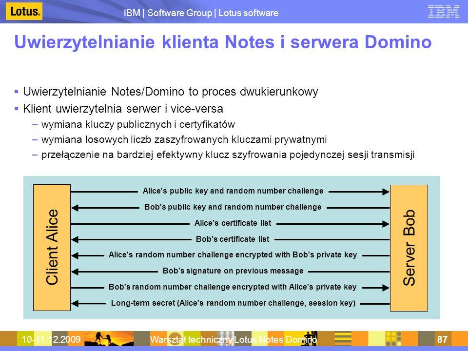 Uwierzytelnianie klienta Notes i serwera Domino