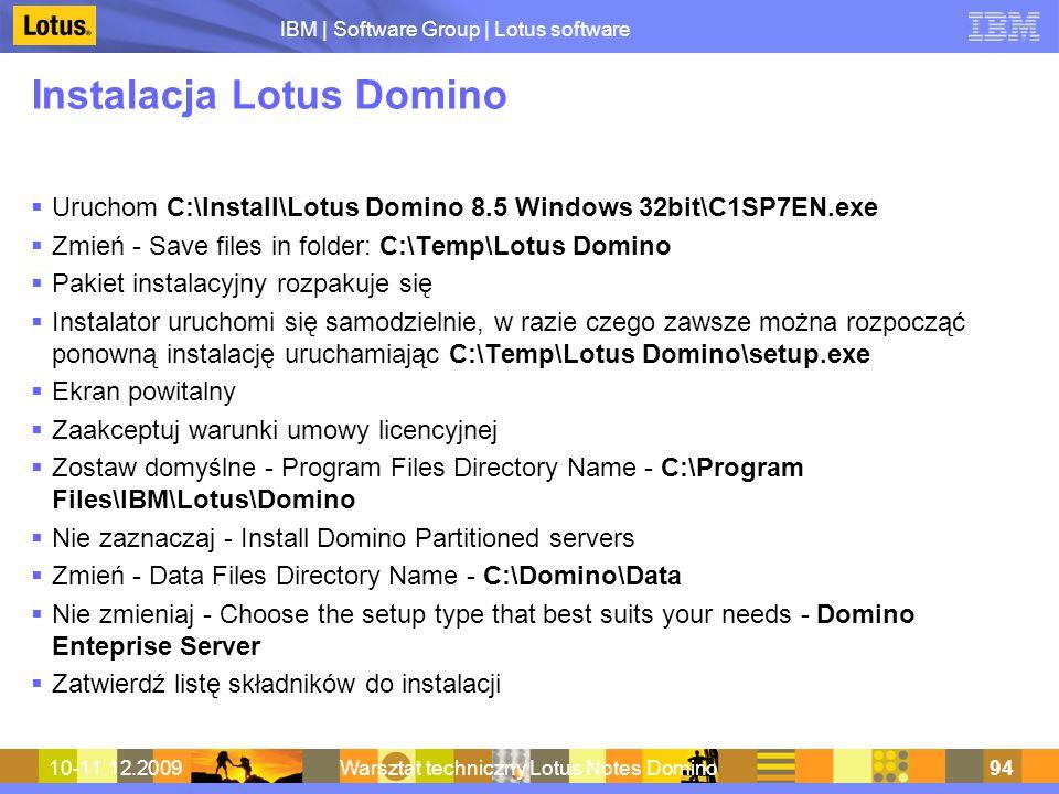 Instalacja Lotus Domino