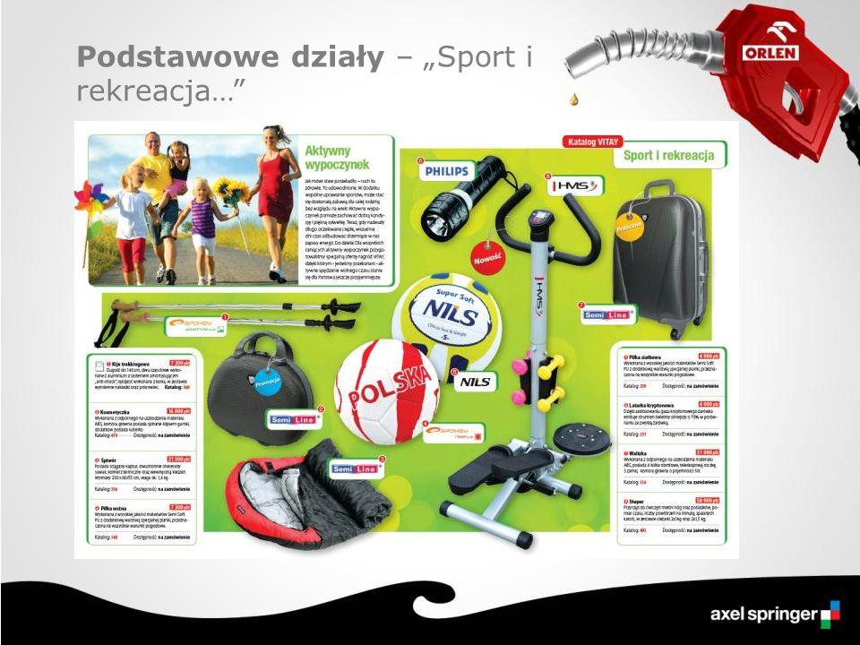 """Podstawowe działy – """"Sport i rekreacja…"""