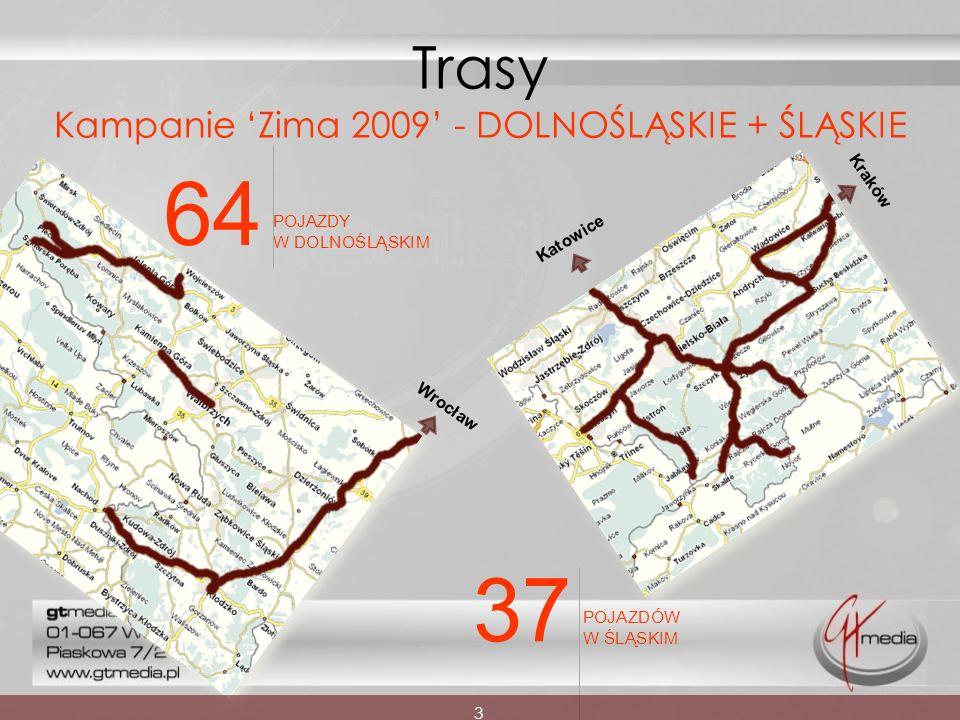 Trasy Kampanie 'Zima 2009' - DOLNOŚLĄSKIE + ŚLĄSKIE