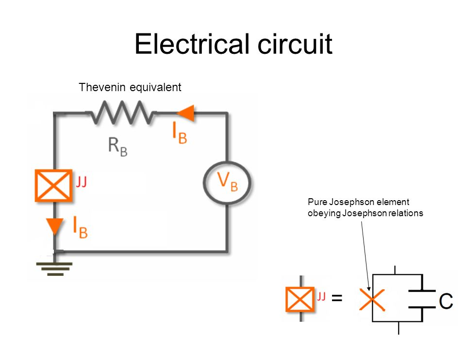 Electrical circuit = Thevenin equivalent