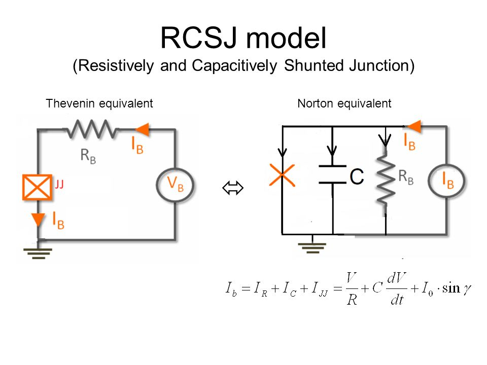 RCSJ model (Resistively and Capacitively Shunted Junction)