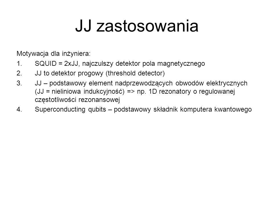 JJ zastosowania Motywacja dla inżyniera:
