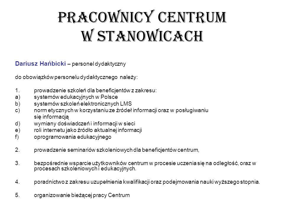 PRACOWNICY CENTRUM W STANOWICACH