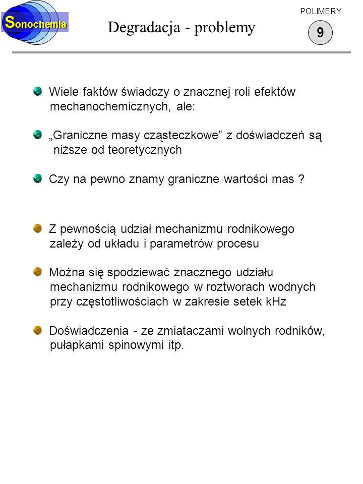 Degradacja - problemy Sonochemia 9