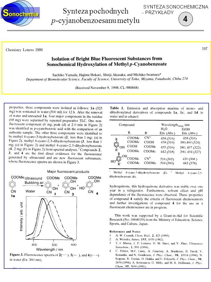Synteza pochodnych p-cyjanobenzoesanu metylu