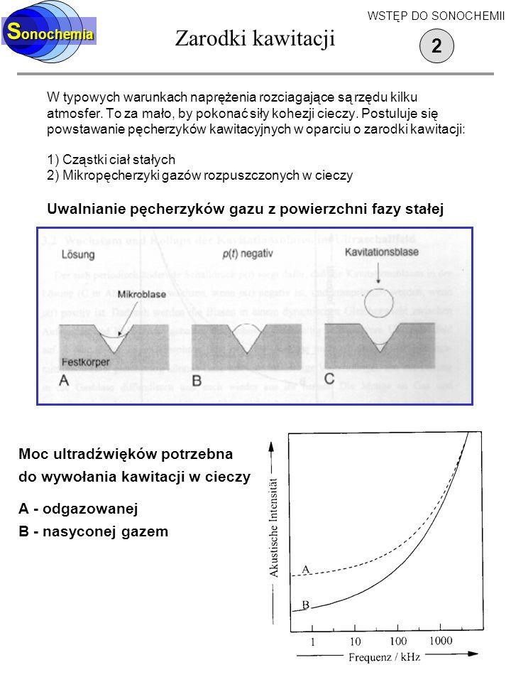 Zarodki kawitacji Sonochemia 2