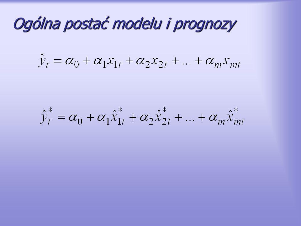 Ogólna postać modelu i prognozy