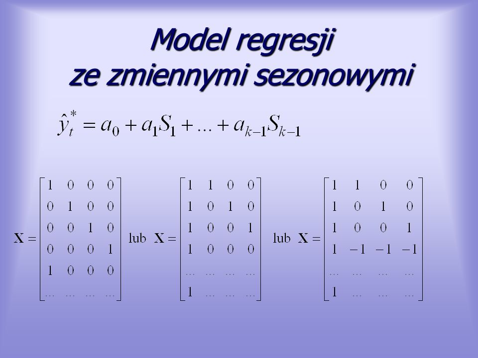 Model regresji ze zmiennymi sezonowymi