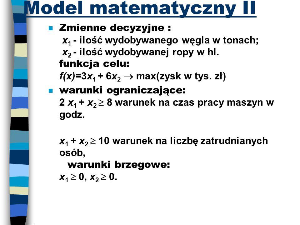 Model matematyczny II