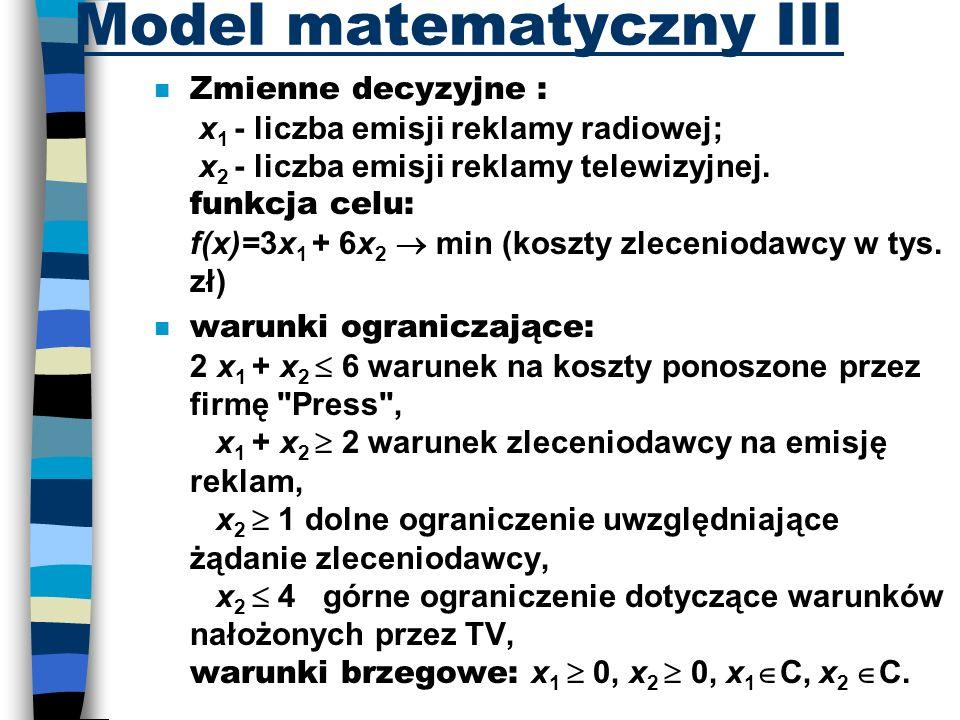 Model matematyczny III