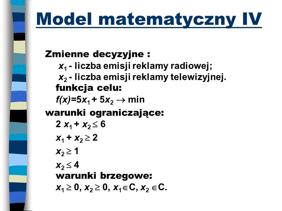 Model matematyczny IV