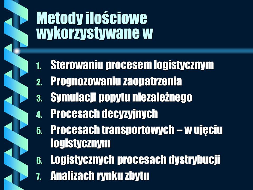 Metody ilościowe wykorzystywane w