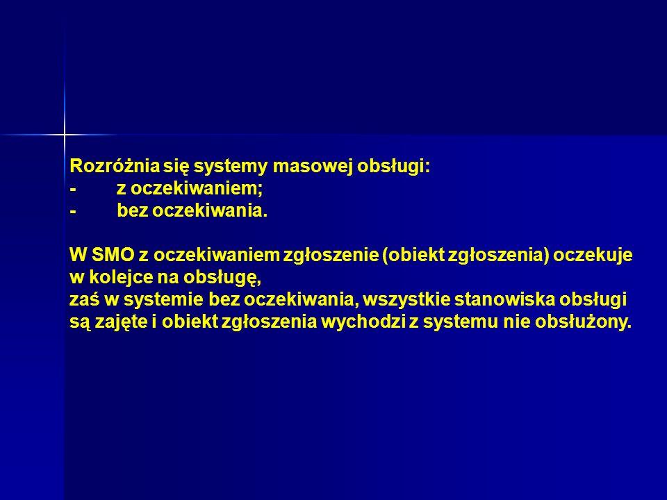 Rozróżnia się systemy masowej obsługi: