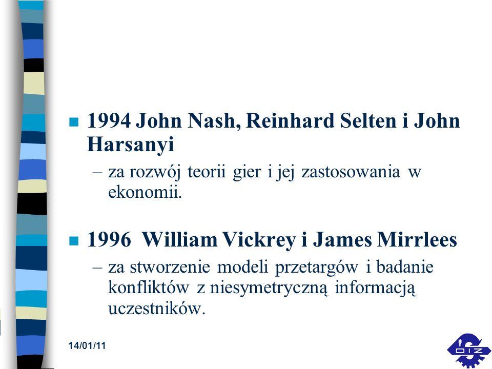 1994 John Nash, Reinhard Selten i John Harsanyi