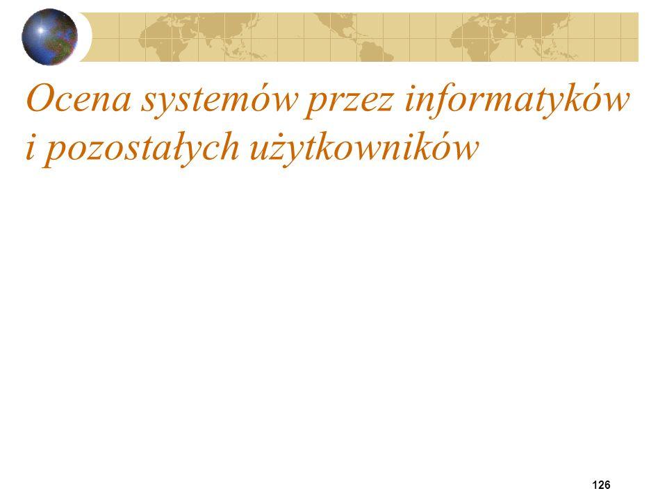 Ocena systemów przez informatyków i pozostałych użytkowników