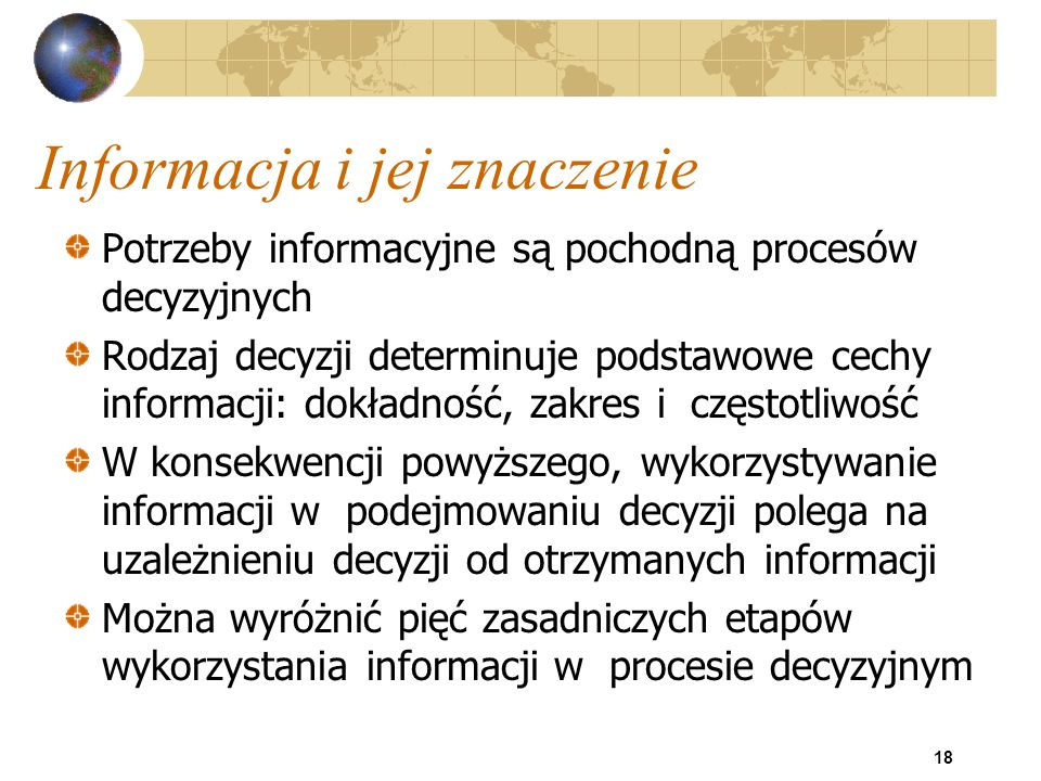 Informacja i jej znaczenie