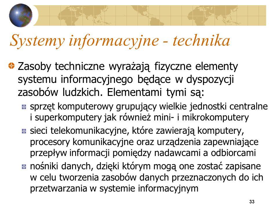 Systemy informacyjne - technika