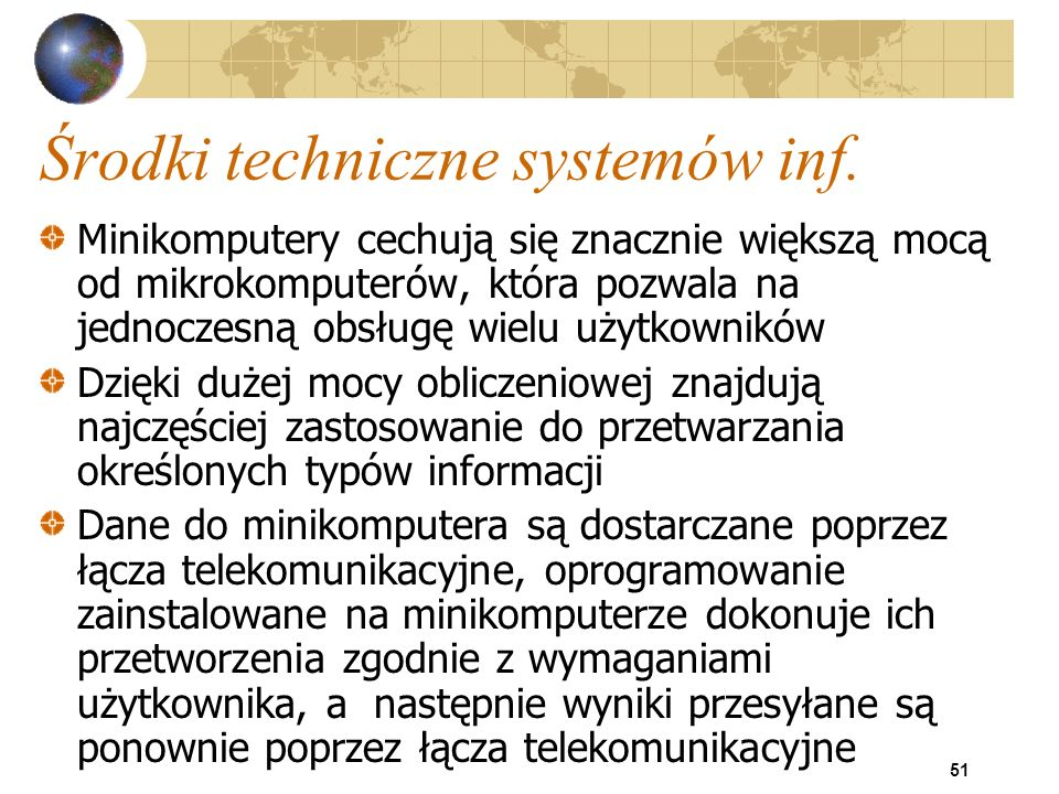 Środki techniczne systemów inf.