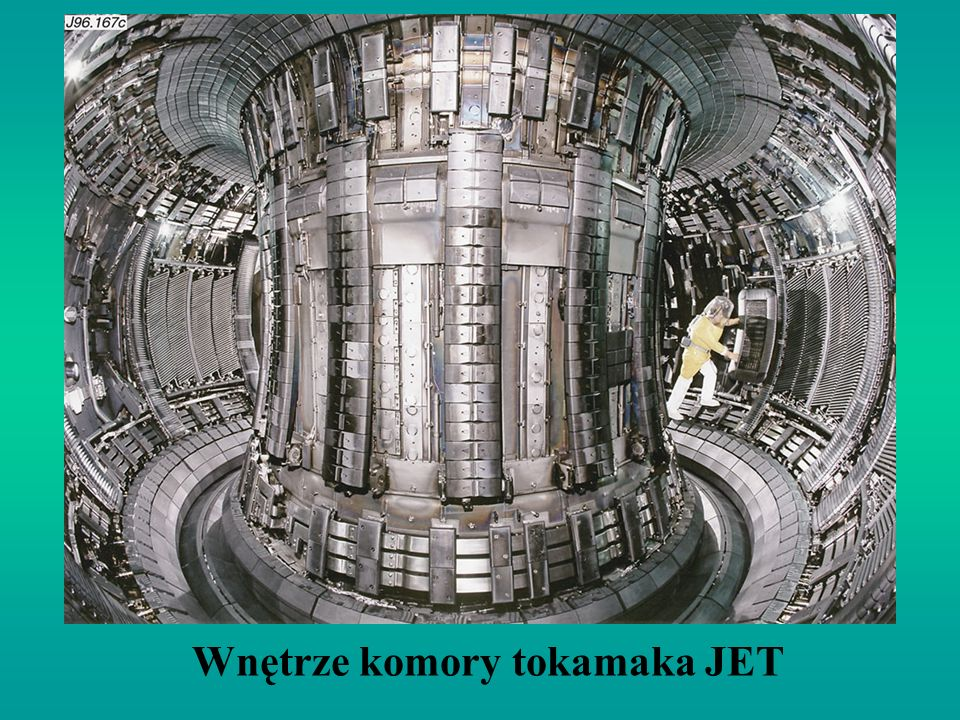 Wnętrze komory tokamaka JET