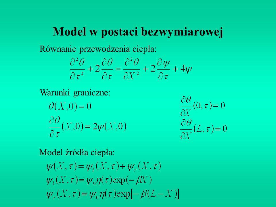 Model w postaci bezwymiarowej