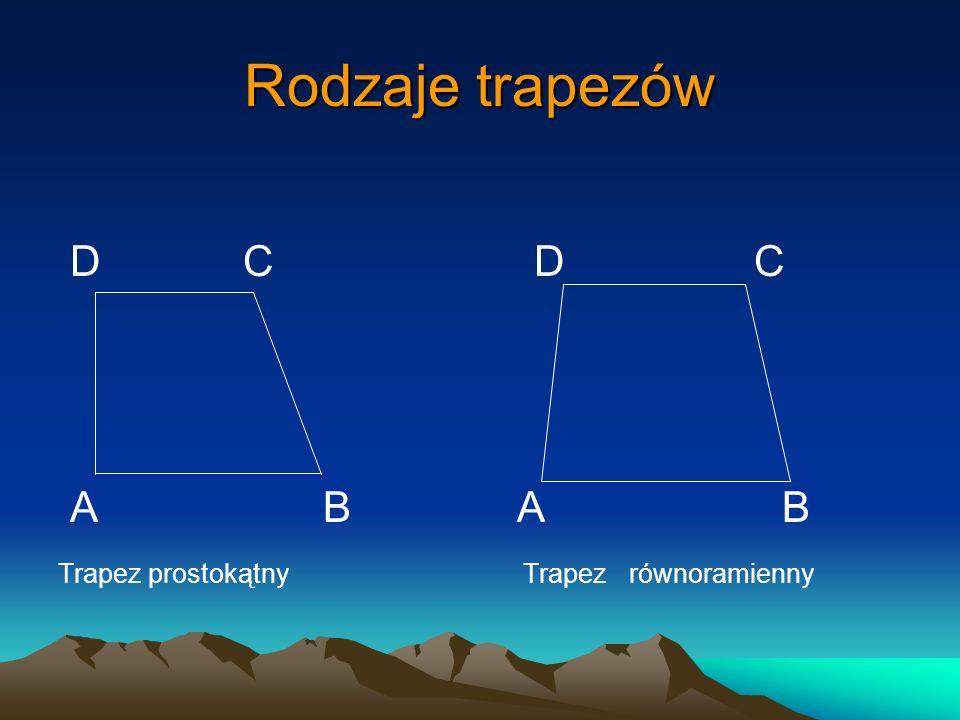 Rodzaje trapezów D C D C A B A B