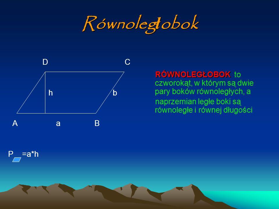 Równoległobok D C. h b. A a B.