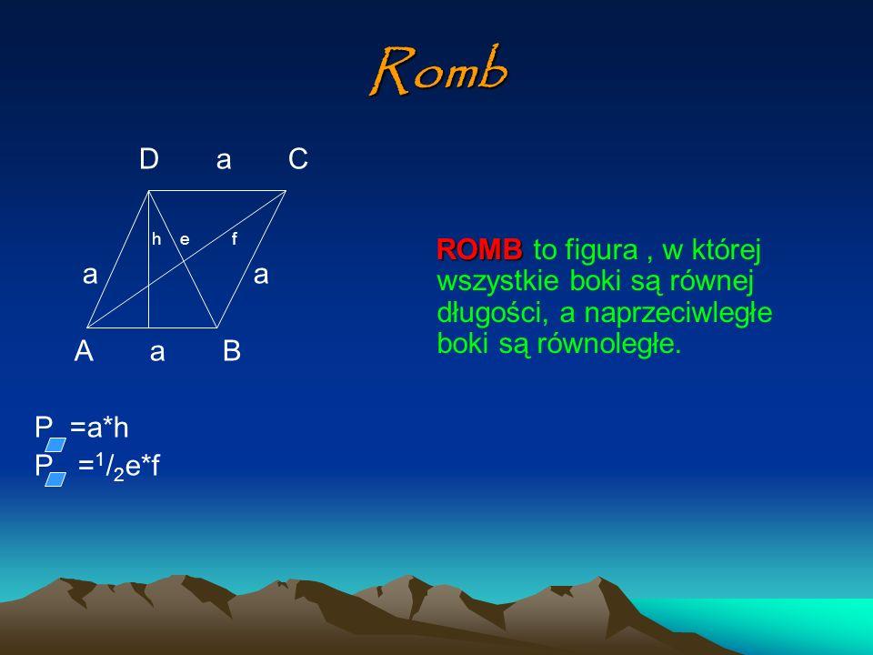 RombD a C. h e f. a a. A a B. P =a*h.