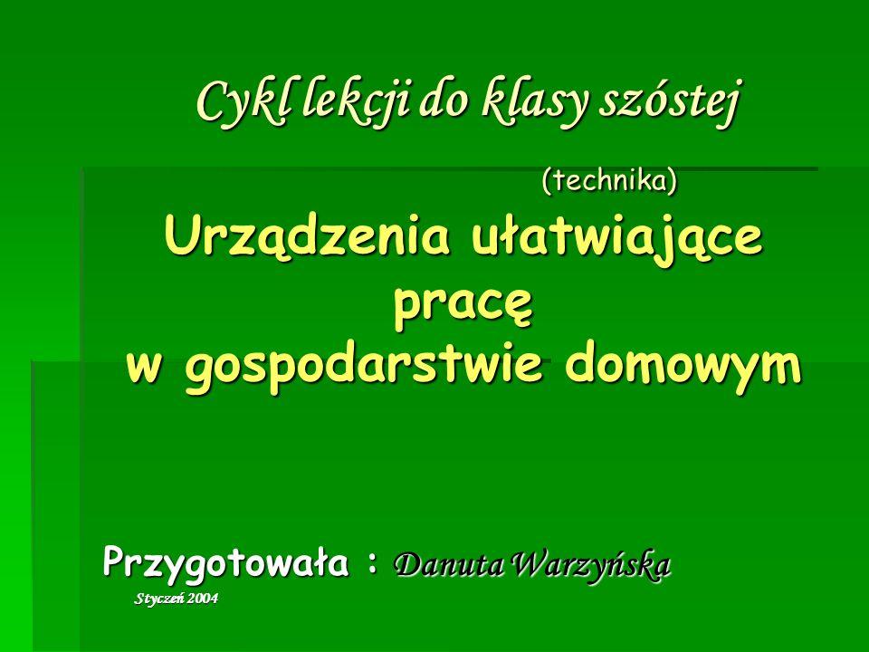Przygotowała : Danuta Warzyńska Styczeń 2004
