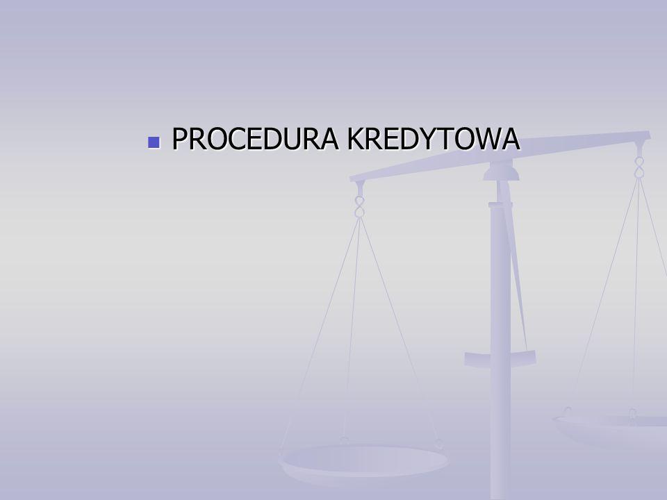 PROCEDURA KREDYTOWA
