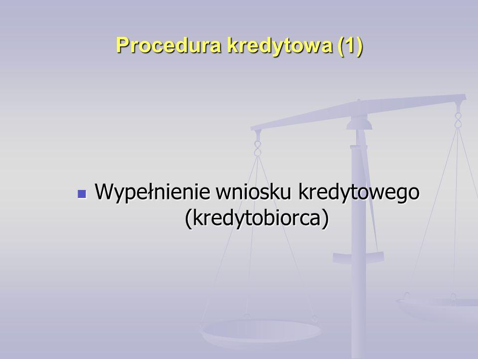 Procedura kredytowa (1)