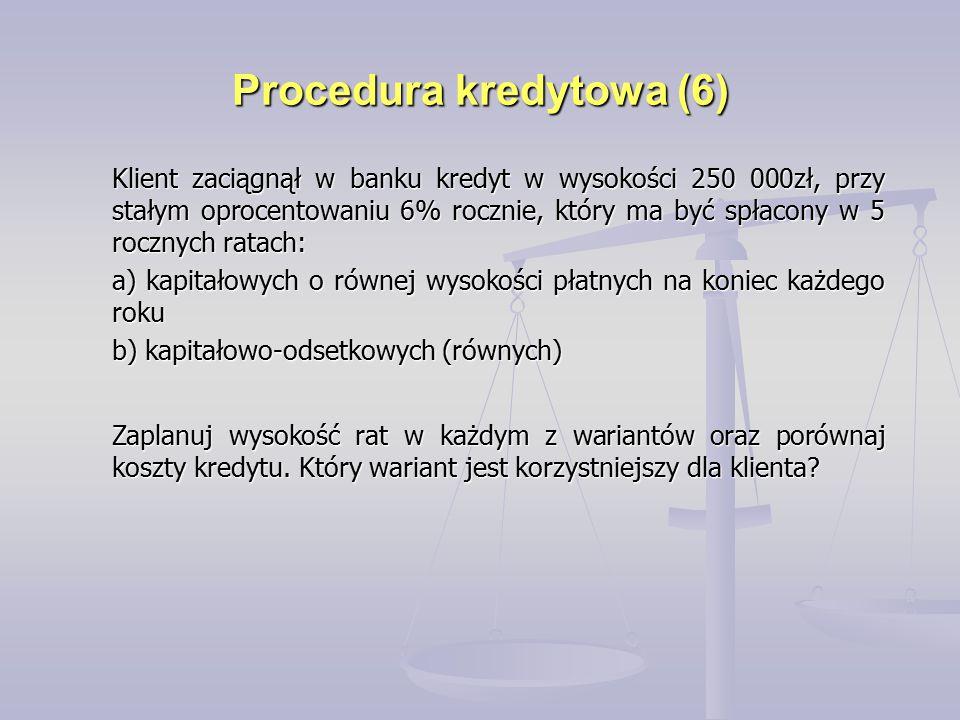 Procedura kredytowa (6)