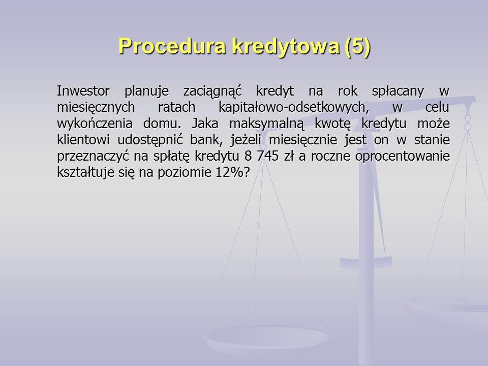 Procedura kredytowa (5)