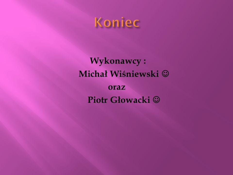 Koniec Wykonawcy : Michał Wiśniewski  oraz Piotr Głowacki 