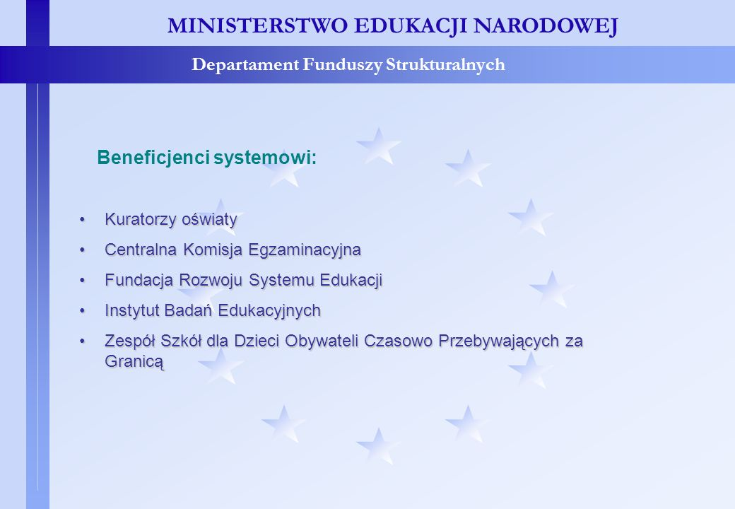 Beneficjenci systemowi