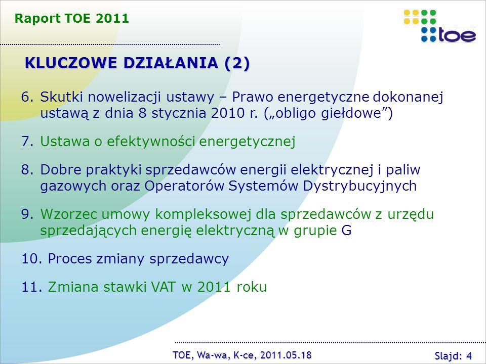 Raport TOE 2011 KLUCZOWE DZIAŁANIA (2)