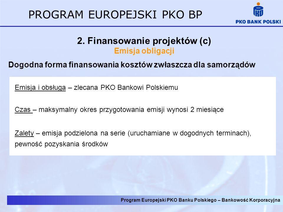 2. Finansowanie projektów (c)