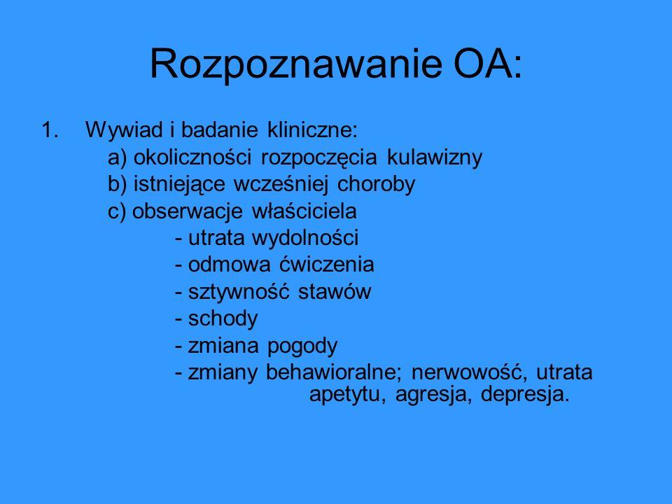 Rozpoznawanie OA: Wywiad i badanie kliniczne: