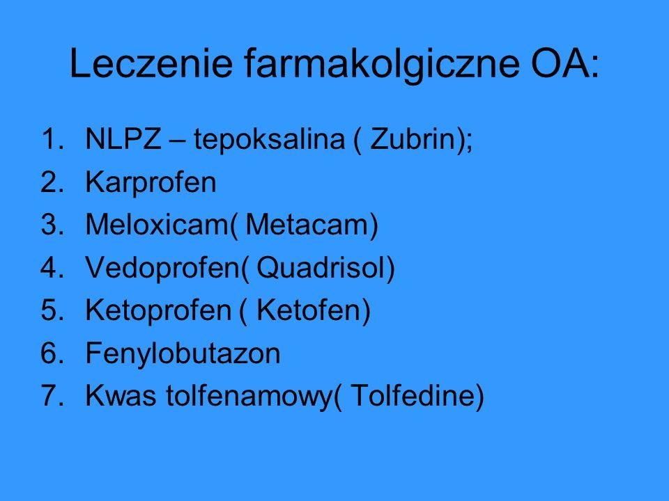 Leczenie farmakolgiczne OA: