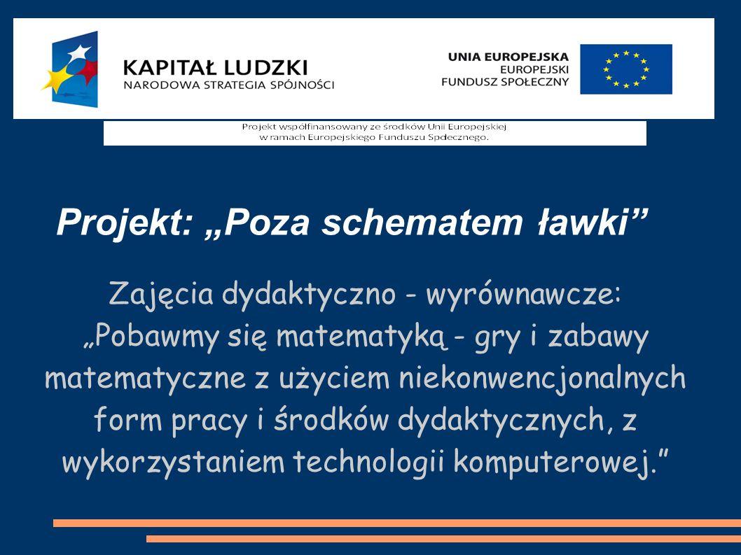 Zajęcia dydaktyczno - wyrównawcze:
