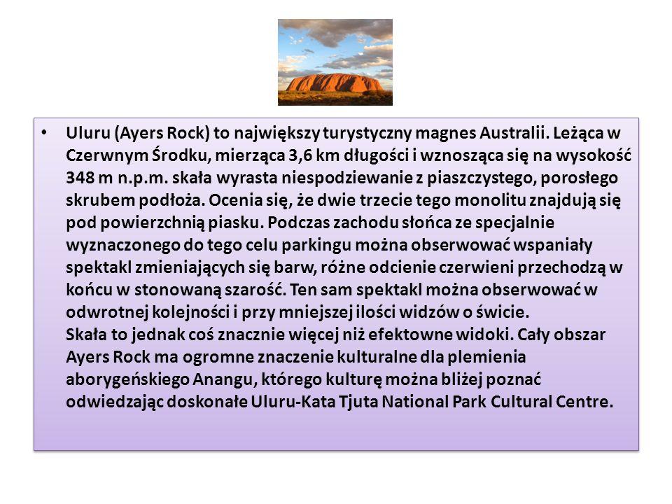 Uluru (Ayers Rock) to największy turystyczny magnes Australii