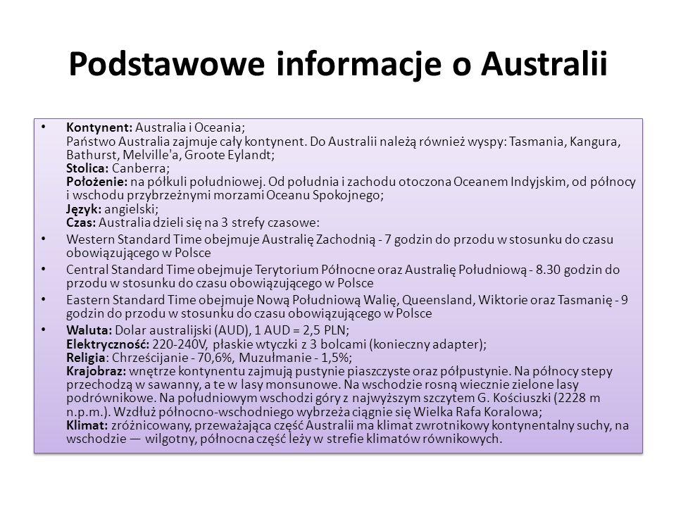 Podstawowe informacje o Australii