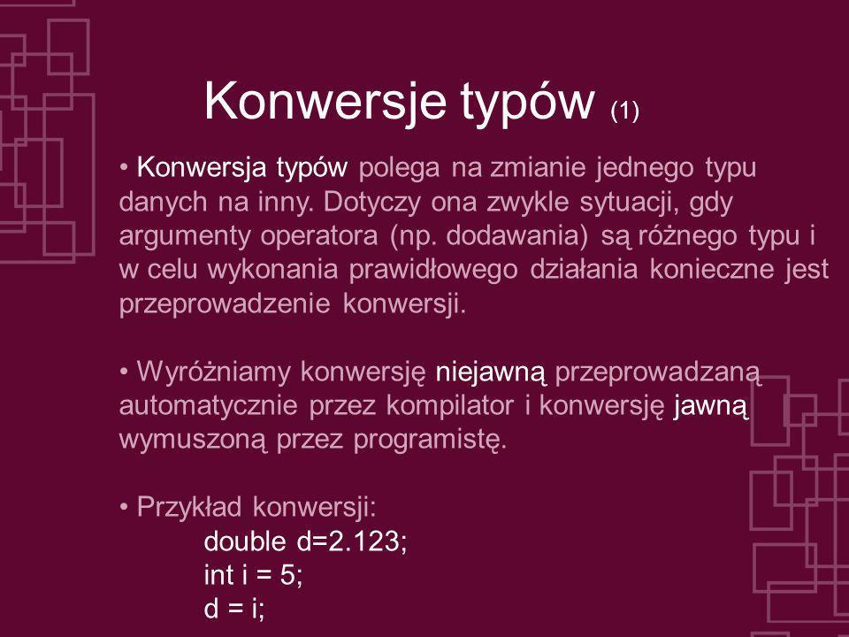 Konwersje typów (1)