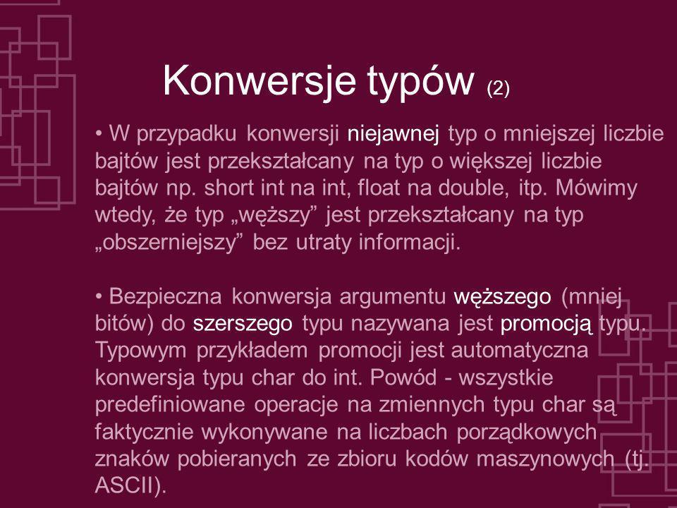 Konwersje typów (2)
