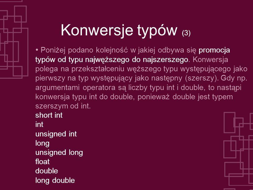 Konwersje typów (3)