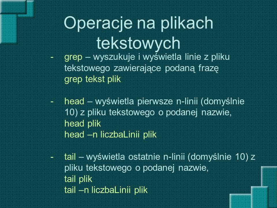 Operacje na plikach tekstowych