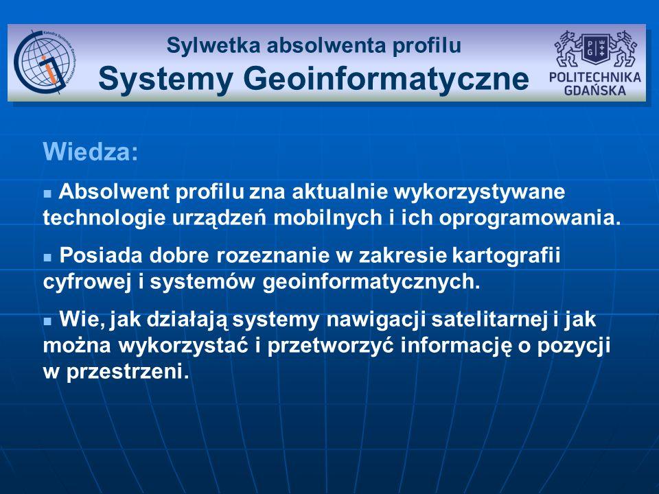 Sylwetka absolwenta profilu Systemy Geoinformatyczne